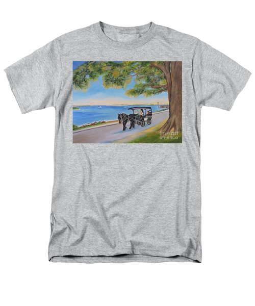 Men's T-Shirt  (Regular Fit) featuring the painting Southport Stroll by Shelia Kempf