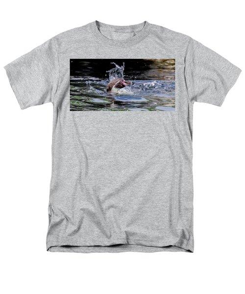 Splashing Humboldt Penguin Men's T-Shirt  (Regular Fit) by Scott Lyons