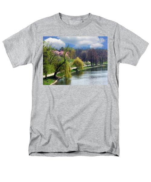 Spring At The Lake Men's T-Shirt  (Regular Fit) by Judi Saunders
