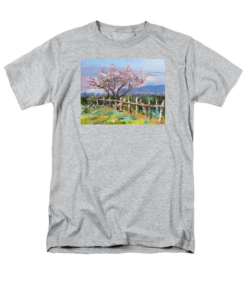 Spring Blossom Pallet Knife Painting Men's T-Shirt  (Regular Fit) by Lisa Boyd