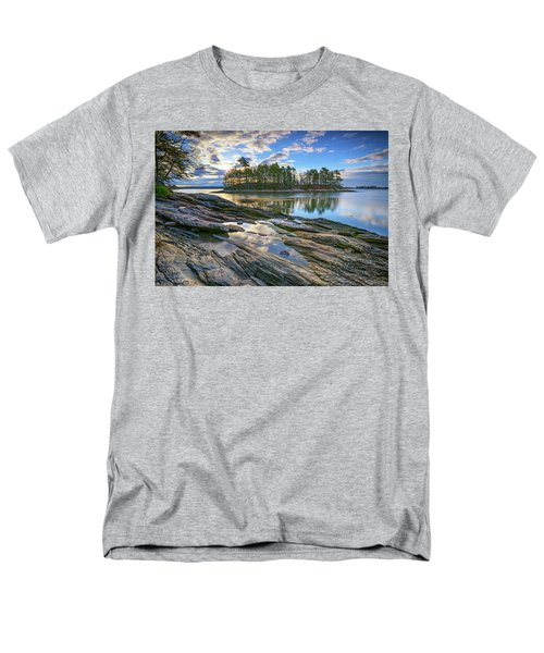 Men's T-Shirt  (Regular Fit) featuring the photograph Spring Morning At Wolfe's Neck Woods by Rick Berk