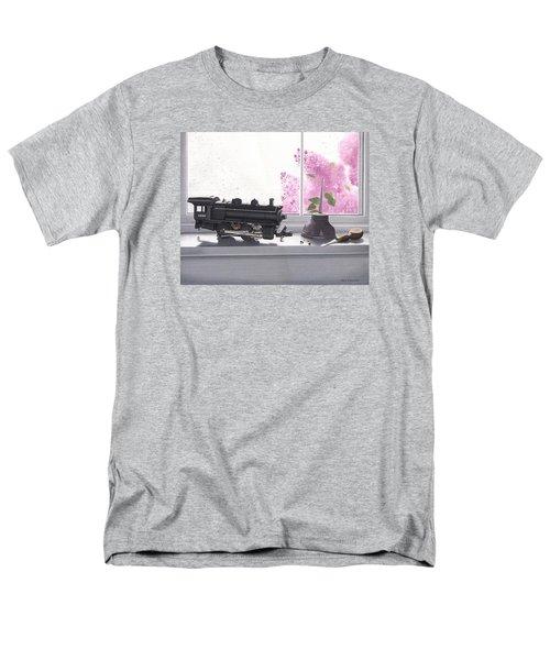Spring Rain  Electric Train Men's T-Shirt  (Regular Fit) by Gary Giacomelli