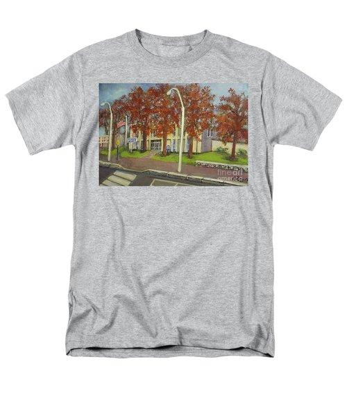 Springtime At Waltham Police Station Men's T-Shirt  (Regular Fit) by Rita Brown