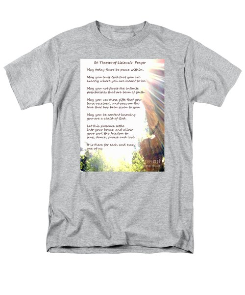 St Therese Of Lisieux Prayer And True Light Lower Emerald Pools Zion Men's T-Shirt  (Regular Fit) by Heather Kirk