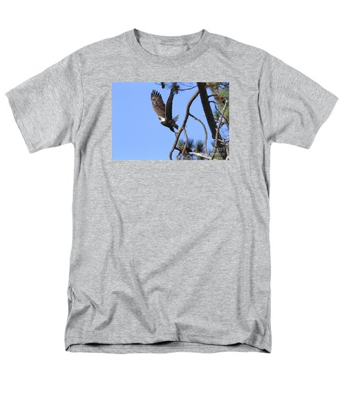 Men's T-Shirt  (Regular Fit) featuring the photograph Standing Eagle by Geraldine DeBoer