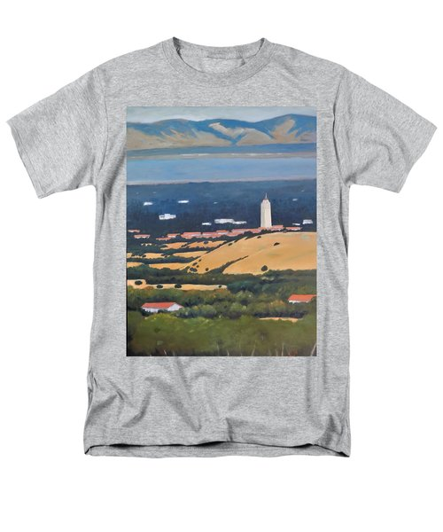 Men's T-Shirt  (Regular Fit) featuring the painting Stanford From Hills by Gary Coleman