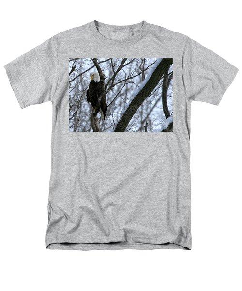 Starved Rock Eagle Men's T-Shirt  (Regular Fit) by Paula Guttilla