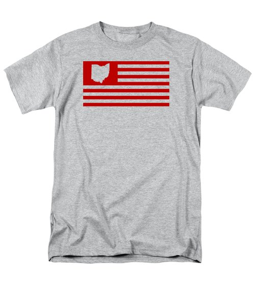 State Of Ohio - American Flag Men's T-Shirt  (Regular Fit) by War Is Hell Store