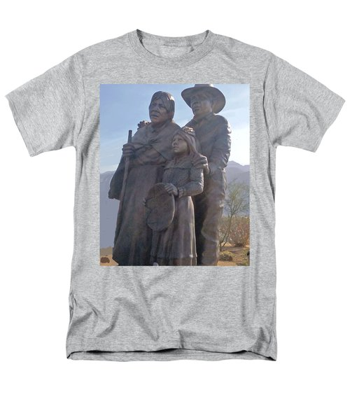 Statuary Dedicated To The American Indian Men's T-Shirt  (Regular Fit) by Jay Milo