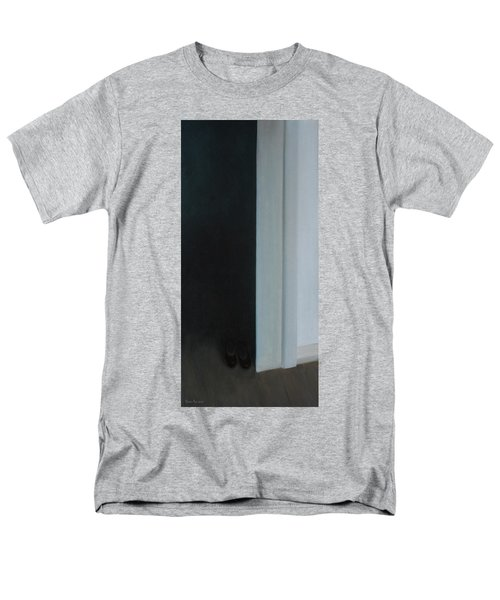 Men's T-Shirt  (Regular Fit) featuring the painting Stepping Into The Light? by Tone Aanderaa