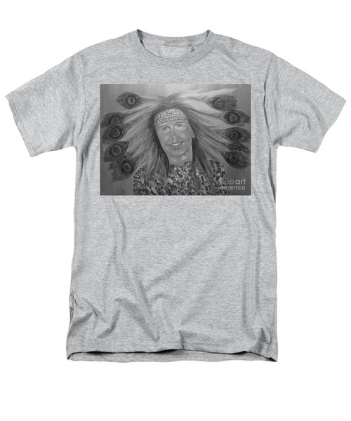 Men's T-Shirt  (Regular Fit) featuring the painting Steven Tyler Art by Jeepee Aero