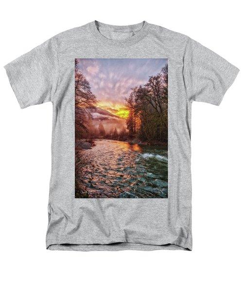 Stilly Sunset Men's T-Shirt  (Regular Fit) by Charlie Duncan