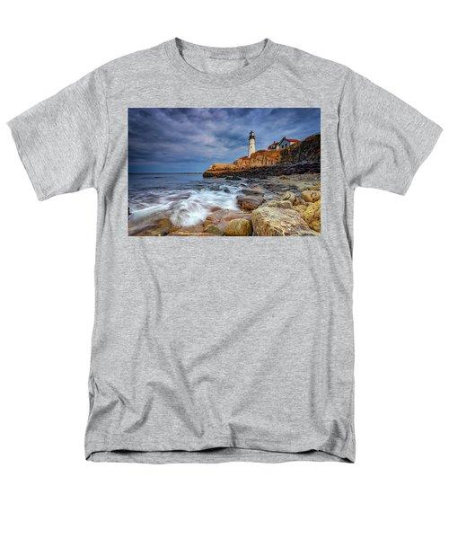 Stormy Skies At Portland Head Men's T-Shirt  (Regular Fit) by Rick Berk