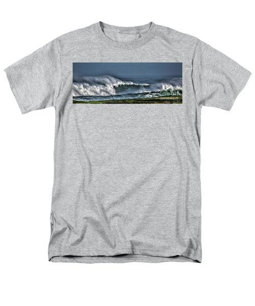Stormy Winter Waves Men's T-Shirt  (Regular Fit) by Shirley Mangini