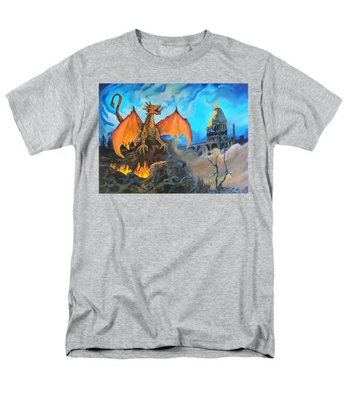 Men's T-Shirt  (Regular Fit) featuring the painting Straight To The Casttttle by Kevin F Heuman