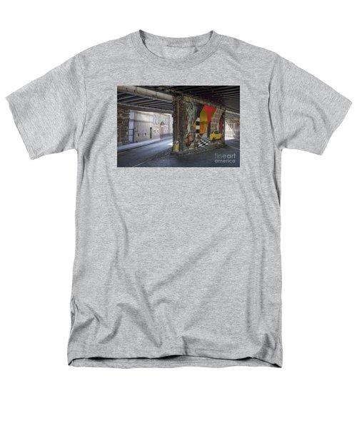 Street Scene - Edinburgh Men's T-Shirt  (Regular Fit) by Amy Fearn