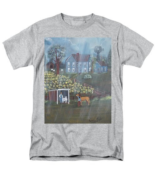 Men's T-Shirt  (Regular Fit) featuring the painting Summer Rain by Virginia Coyle