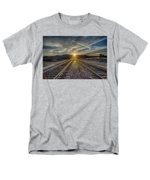 Sun Sets At The End Of The Line Men's T-Shirt  (Regular Fit)