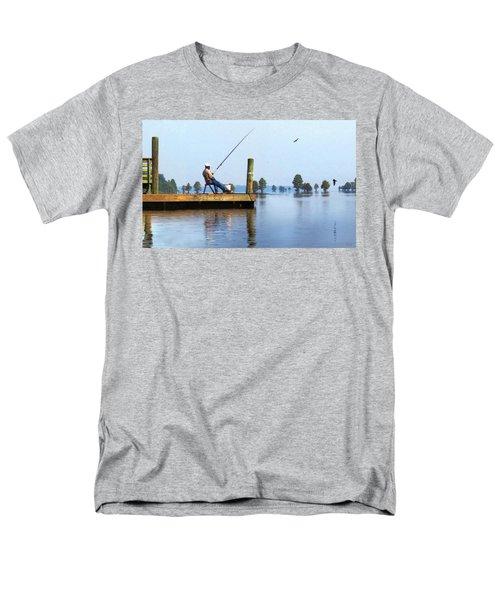 Sunday Fisherman Men's T-Shirt  (Regular Fit) by Deborah Smith
