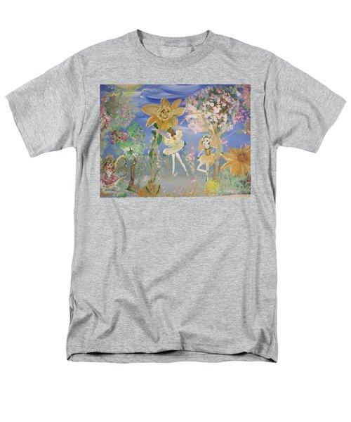 Sunflower Fairies Men's T-Shirt  (Regular Fit) by Judith Desrosiers