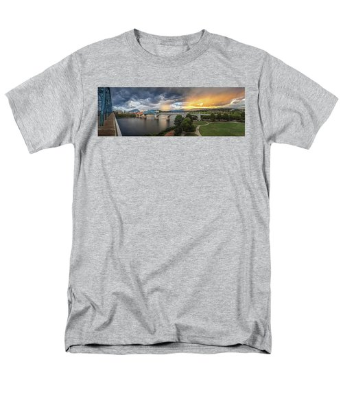 Sunlight And Showers Over Chattanooga Men's T-Shirt  (Regular Fit) by Steven Llorca