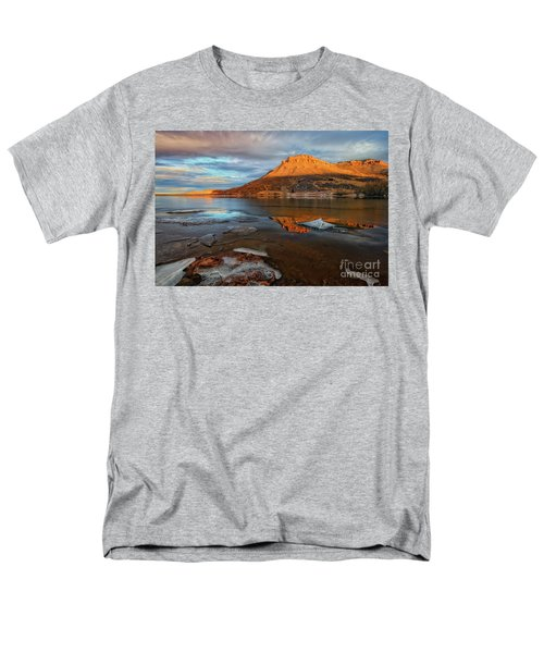 Sunlight On The Flatirons Reservoir Men's T-Shirt  (Regular Fit) by Ronda Kimbrow