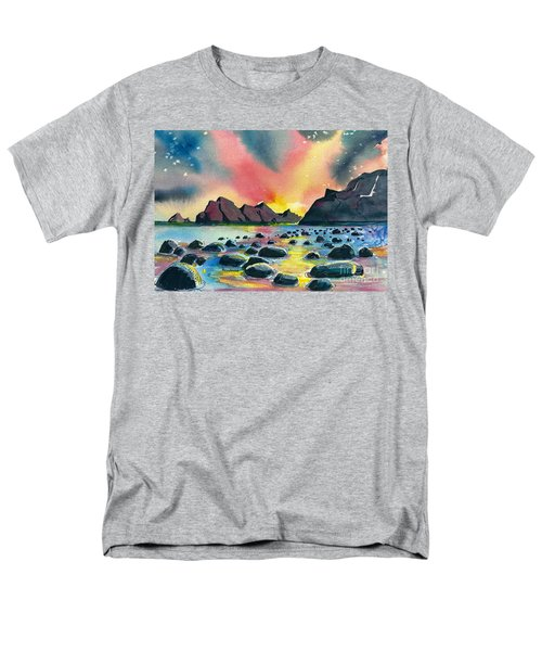 Men's T-Shirt  (Regular Fit) featuring the painting Sunrise And Water by Terry Banderas