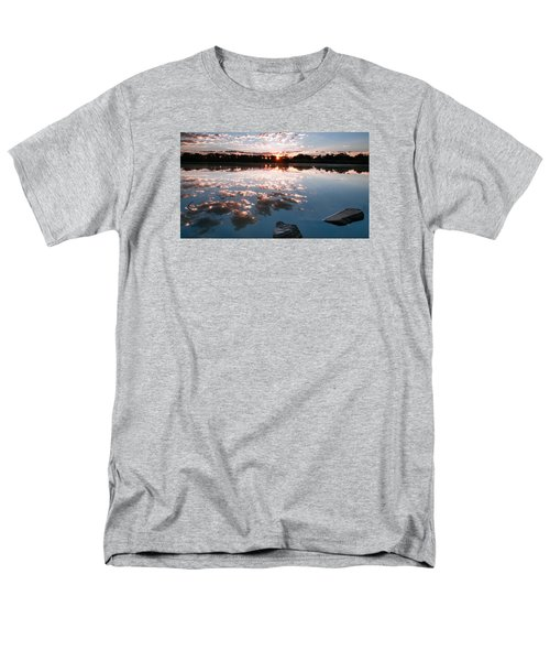 Men's T-Shirt  (Regular Fit) featuring the photograph Sunrise At Cattails Chorus Ponds by Monte Stevens