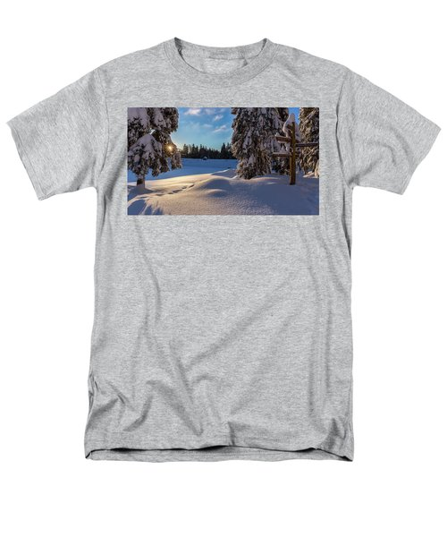 sunrise at the Oderteich, Harz Men's T-Shirt  (Regular Fit) by Andreas Levi