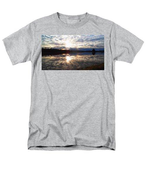 Sunrise Over Flooded Field In Bow Men's T-Shirt  (Regular Fit) by Karen Molenaar Terrell
