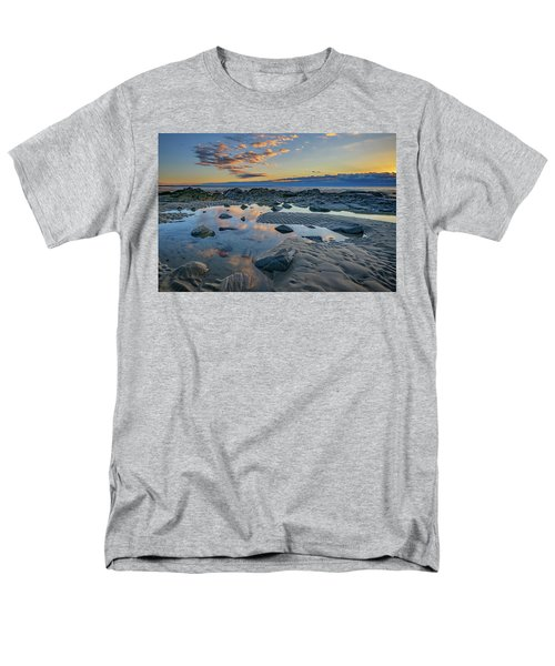 Men's T-Shirt  (Regular Fit) featuring the photograph Sunrise Reflections On Wells Beach by Rick Berk