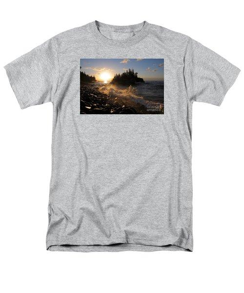 Men's T-Shirt  (Regular Fit) featuring the photograph Sunrise Waves by Sandra Updyke