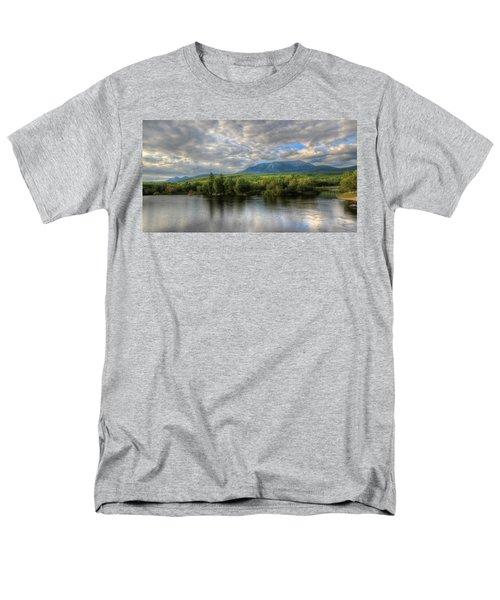 Sunset At Mt. Katahdin Men's T-Shirt  (Regular Fit) by Lori Deiter