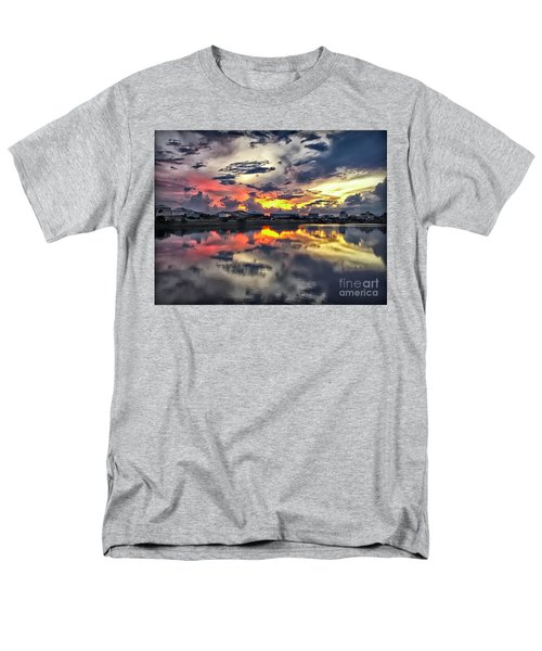 Sunset At Oyster Lake Men's T-Shirt  (Regular Fit) by Walt Foegelle