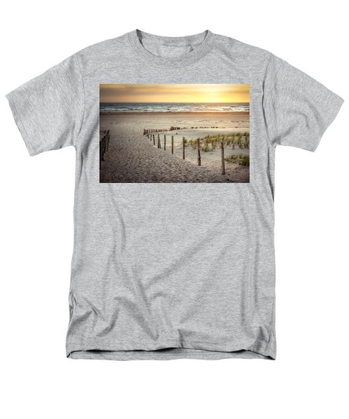 Men's T-Shirt  (Regular Fit) featuring the photograph Sunset At The Beach by Hannes Cmarits