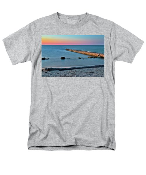 Men's T-Shirt  (Regular Fit) featuring the photograph Sunset Beach On Lake Erie by Frozen in Time Fine Art Photography