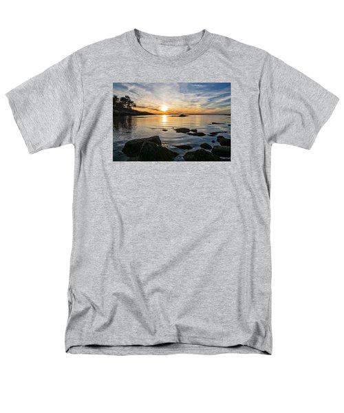 Sunset Cove Gloucester Men's T-Shirt  (Regular Fit) by Michael Hubley
