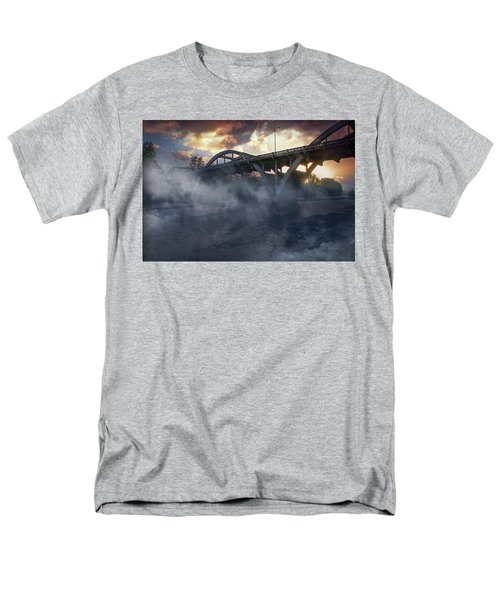 Sunset Fog At Caveman Bridge Men's T-Shirt  (Regular Fit) by Mick Anderson