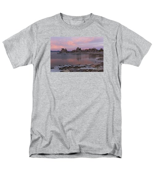 Men's T-Shirt  (Regular Fit) featuring the photograph Sunset On Mono Lake by Sandra Bronstein