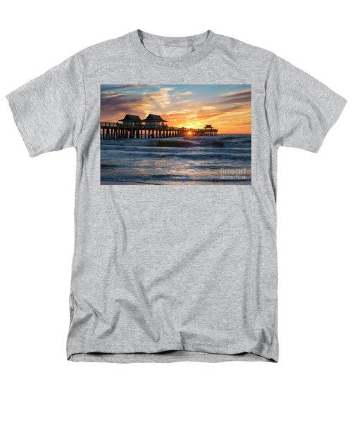 Men's T-Shirt  (Regular Fit) featuring the photograph Sunset Over Naples Pier by Brian Jannsen