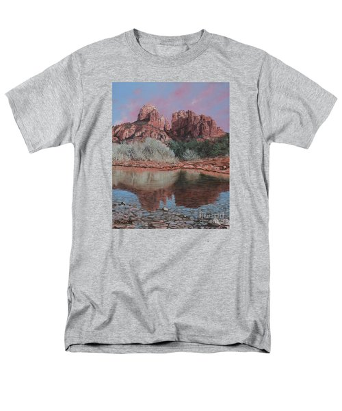 Sunset Over Red Rocks Of Sedona  Men's T-Shirt  (Regular Fit) by Barbara Barber
