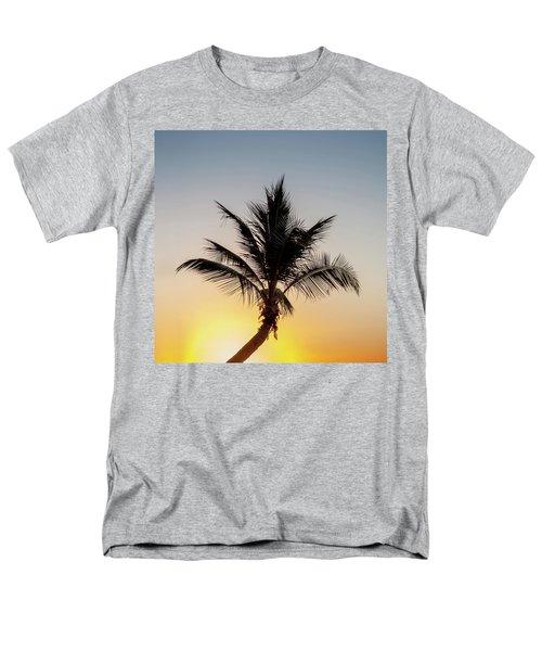 Men's T-Shirt  (Regular Fit) featuring the photograph Sunset Palm by Az Jackson