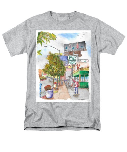 Sunset Plaza, Sunset Blvd., And Londonderry, West Hollywood, California Men's T-Shirt  (Regular Fit) by Carlos G Groppa