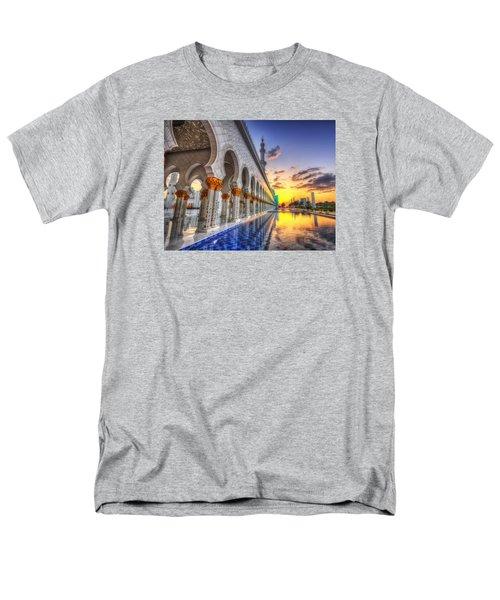 Sunset Water Path Temple Men's T-Shirt  (Regular Fit) by John Swartz