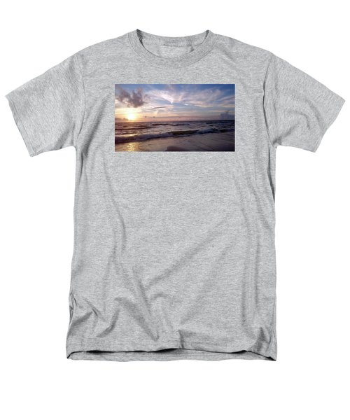 Sunset Waves  Men's T-Shirt  (Regular Fit) by Vicky Tarcau