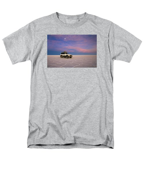 Lake Uyuni Sunset With Car Men's T-Shirt  (Regular Fit)