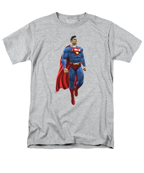 Men's T-Shirt  (Regular Fit) featuring the mixed media Superman Splash Super Hero Series by Movie Poster Prints