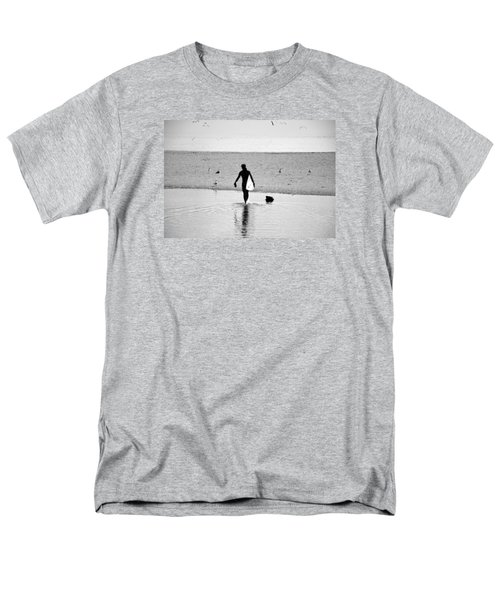 Men's T-Shirt  (Regular Fit) featuring the photograph Surfer In Silhouette by Antonia Citrino