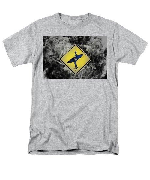 Surfer Xing Men's T-Shirt  (Regular Fit) by Joseph S Giacalone