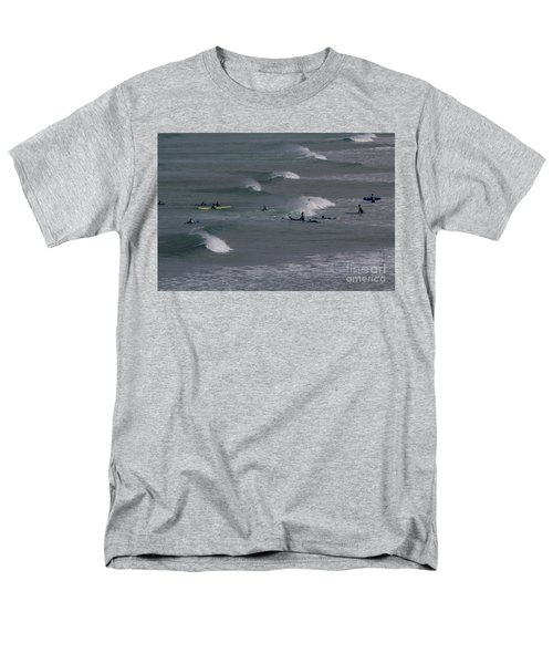 Men's T-Shirt  (Regular Fit) featuring the photograph Photographs Of Cornwall Surfers At Fistral by Brian Roscorla